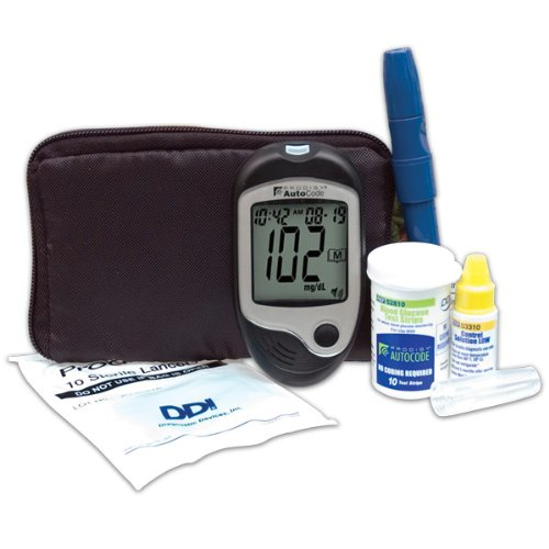 Prodigy AutoCode Talking Blood Glucose Monitoring Kit- Bilingual – English or Spanish