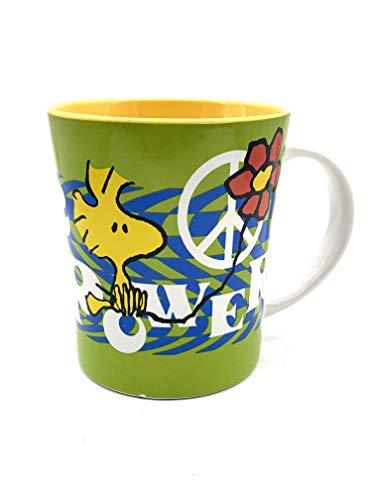Peanuts Snoopy Original Trademark Colorful Coffee Tea Beverage Mug Cup 15oz (Flower Power)