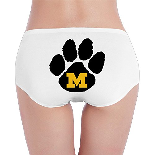 Low Rise Tiger - Hovalle University Of Missouri Tigers Low-Rise Sexy Ladies Fashion Underwear Seam Free Briefs.Brief Hipsters Brief White L