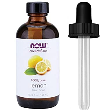 Now Foods Lemon Oil, 4 Fluid Ounce + 1 Glass Dropper