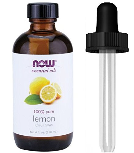 Now Foods Essential Oil, Lemon, 4 Fluid Ounce + 1 Glass Dropper