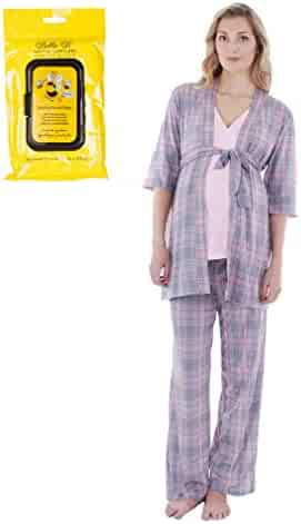 2bec6cfcf5891 Everly Grey Bundle 2 Items Susan Maternity Nursing PJ Bra Set PNK L+  Breastwipes