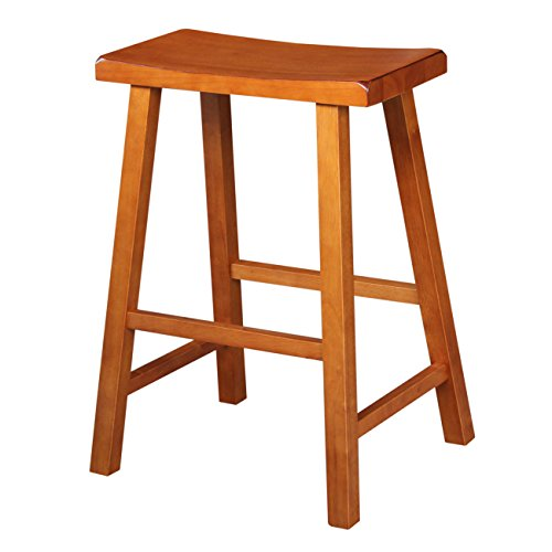 International Concepts 1S43-683 29-Inch Saddle Seat Barstool, Rustic Oak by International Concepts