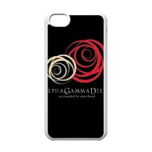 Alpha Gamma Delta Sorority iPhone 5c Cell Phone Case White phone component RT_377049