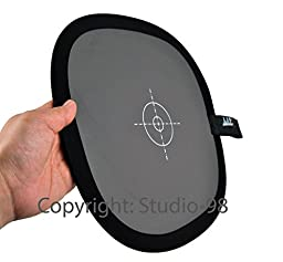 Studio-98 Collapsible 12 X 12 Inch (30 X 30 Cm) White Balance 18% Grey Gray Reference Reflector Card Foldable with a 6\