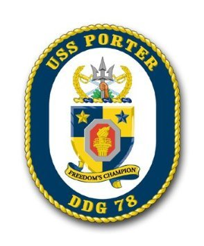 US Navy Ship USS Porter DDG-78 Decal Sticker - Cool Porter