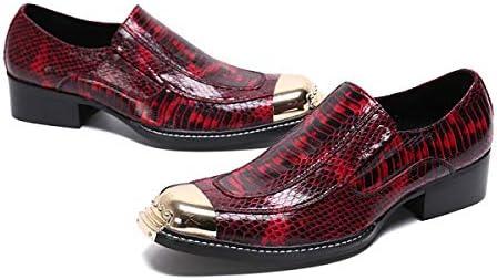 Wensa Mens Cowboy Boots, della Pelle di Serpente Scarpe Piene Occidentali con Punta Scarpe di Cuoio Acciaio Toe cap Boots Casuale Combat Boots Stivali di Moda,41