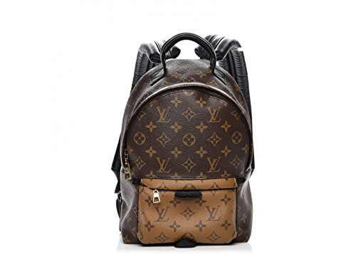 Palm Springs Style Canvas Monogram Reverse PM Backpack with Adjustable Straps Perfect for Men Women Girls Boys
