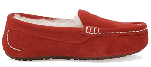 DREAM PAIRS Womens Auzy Sheepskin Winter Moccasins Slippers Red wjZxmMN
