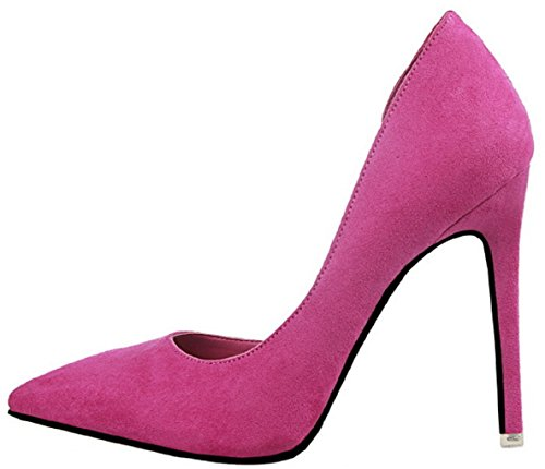 8 Escarpins 952 Pointed Femmes D'Orsay Rose Toe Rouge HooH Stiletto SFB0gxBw