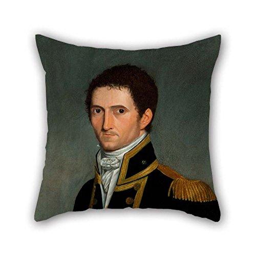 Pillow Covers Of Oil Painting Toussaint Antoine DE CHAZAL DE Chamerel - Portrait Of Captain Matthew Flinders, RN, 1774-1814 20 X 20 Inches / 50 By 50 Cm Best Fit (Halloween Et Toussaint)