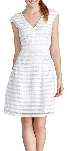 Donna Morgan Women's Short Sleeve Illusion Strip Drop Waist, White, 10