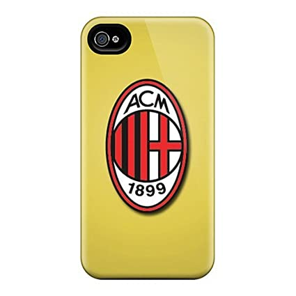 Amazon.com: New Cute Funny Ac Milan Case Cover/ Iphone 4/4s ...