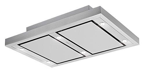 Silverline Vega AC randafzuiging integriertem Deckenmontage Edelstahl 750m³/h–Hauben (750m³/h, Rückgewinnung, 39dB, integriertem Deckenmontage, Edelstahl, 6Leuchtmittel (S)) Rückgewinnung 39dB 6Leuchtmittel (S))