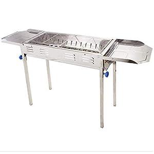 CJVJKN Grande Acciaio Inossidabile Griglia for Barbecue, Esterna Portatile Barbecue a carbonella Strumento, più di 5… 3 spesavip