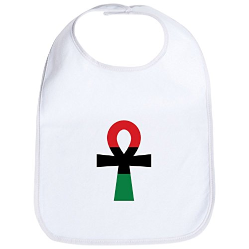 CafePress - Red, Black & Green Ankh - Cute Cloth Baby Bib, Toddler Bib