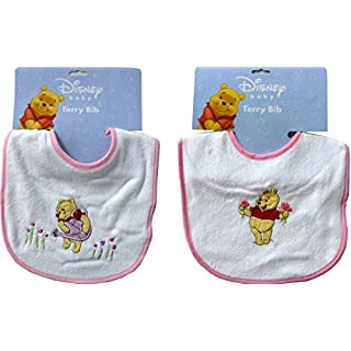 Winnie The Pooh 2-Pack Embroidered Terry Cloth Bibs