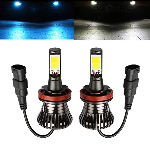 H11 LED Fog Lights Bulbs H8 LED bulb 6000K White 8000K Ice Blue Dual Colors Lamps H16 H9 Car Trucks 12V 30W Modification Replacement Bright Easy Installation 2pcs【1797】