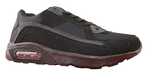 Ascot Mens Chaussures De Course En Cuir Synthétique Noir