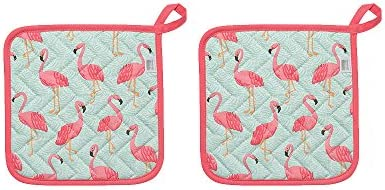 Now Designs Basic Potholders Flamingos