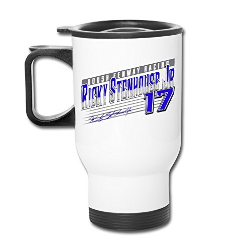 Ricky Stenhouse Jr. Crank Shaft White Tumblers Travel Mugs Insulated Coffee With -