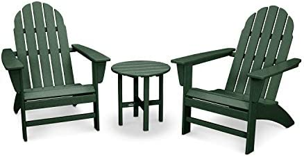 POLYWOOD Vineyard 3-Piece Adirondack Set Green