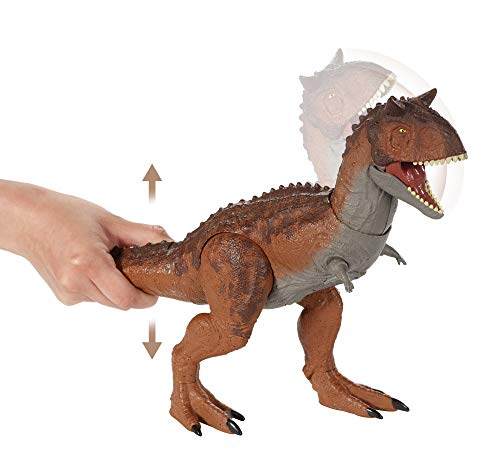 Jurassic World Control 'N Conquer Carnotaurus Large Dinosaur Figure with Tail-Activated Side and Head Movement, Sounds, Movable Joints, Movie-Authentic Detail; Ages 4 and Up