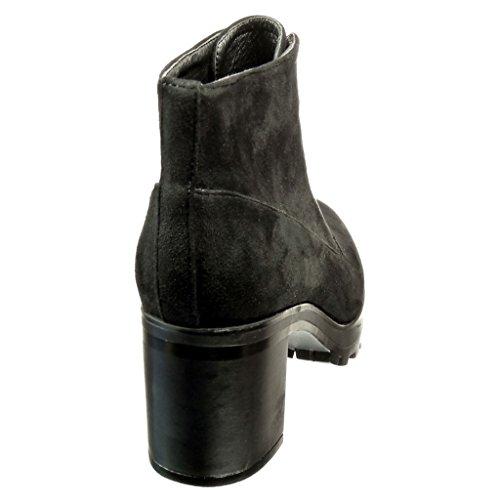 Angkorly - damen Schuhe Stiefeletten - Desert Boots Blockabsatz high heel 6.5 CM - Schwarz