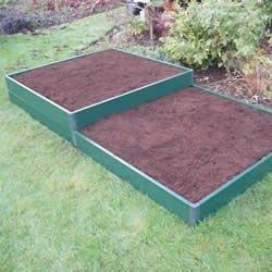 En relieve de cama de diseño de jardín Kit 3 metre x 1 metro ...