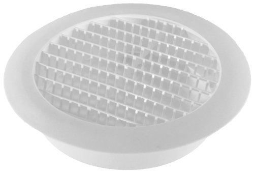 Speedi-Products SM-RSV 6 6-Inch Diameter Plastic Round Soffit Vent (Round Floor Register)