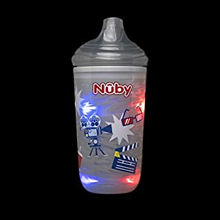 Nuby Insulated Light-Up Cup with No Spill Bite Resistant Hard Spout, 10 Oz, Gray Movies