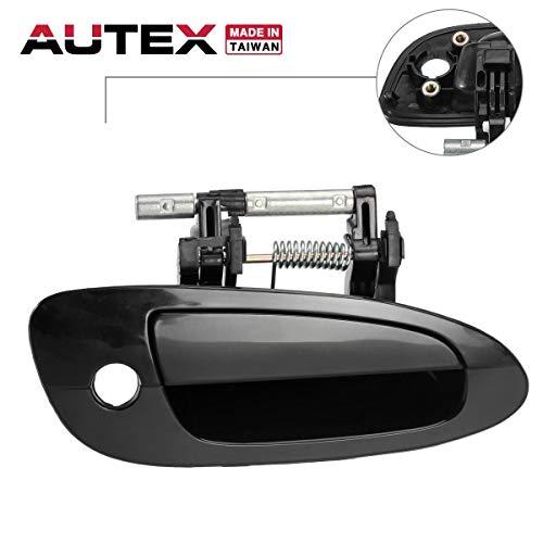 AUTEX Exterior Door Handle Front Right Passenger Side Compatible with Nissan Altima 2002 2003 2004 2005 2006 Door Handle Smooth Black 80432 806068J009 (Nissan Altima Passenger Front Door)
