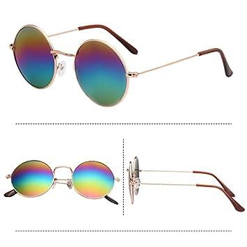Sunyan Nouvelles lunettes dame coréenne sur le retour vers l'ancienne lunettes de soleil, lunettes, lunettes miroir, 0716,Gold frame film poudre