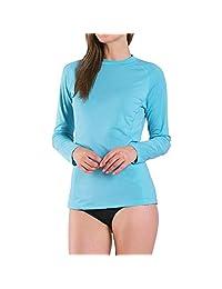 Ogeenier Women's Long Sleeve Rashguard UPF 50+ Swim Shirt Rash Guard Athletic Tops Swimwear