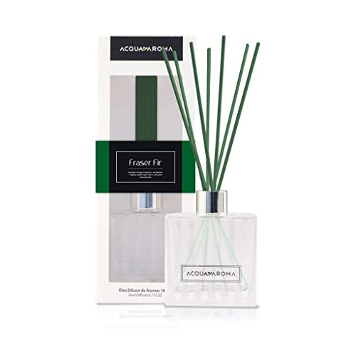 Acqua Aroma Fraser Fir Reed Oil Diffuser 6.1 FL OZ (180ml) Contain Essential Oils. Frasier Fir Christmas Scent