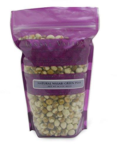 Jansal Valley Natural Green Wasabi Peas, 14.5 Ounce