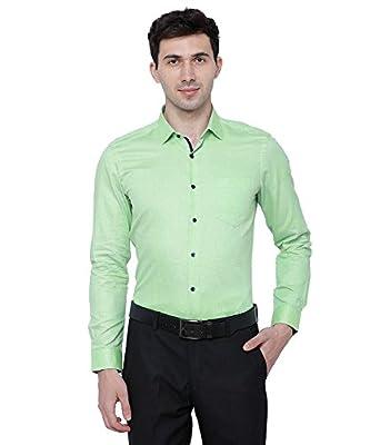 833b8f9a69ffa BS Fashion Full Sleeve Green Color XL'Size Slim Fit Plain Casual ...