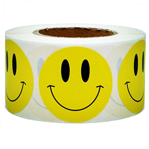 Smile Face Smiley - SMARSTICKER Yellow Smiley Face Happy Stickers 2