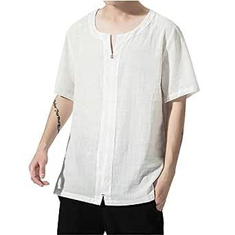 HucodeVan Camisas Manga Corta Hombre Casual Transpirable Algodón ...