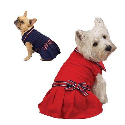Zack & Zoey Nautical Polo Dog Dress - Navy Blue - Size XXS