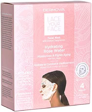 LACE YOUR FACE Compression Facial Mask- Hydrating Rose Water