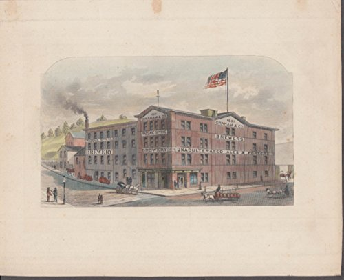 Graham & Co Passaic Spring Brewery NJ hand-colored engraving ()