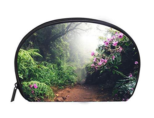 - Multi-function/Half-moon Cosmetic Bag Walking Path On Madeira Island Ladies Travel Convenience Small Wash Bag Storage Bag