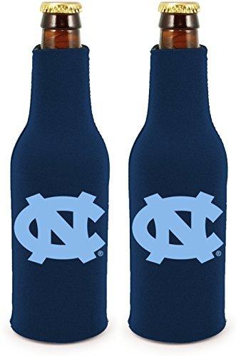 - NCAA College 2014 Team Logo Color Bottle Suit Holder Holder Koozie Cooler 2-Pack (North Carolina Tar Heels)