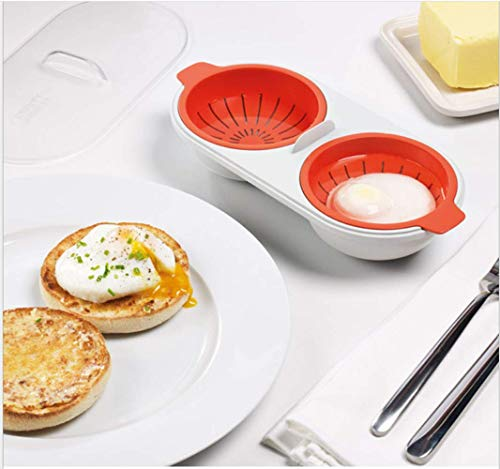 Perfect Poach - Microwavable Double Egg Poacher Cookware Ideal Poached Eggs In Minutes
