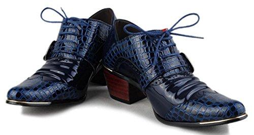 HYLM los Negocios patrón hombres English Banquet blue zapatos los Crocodile zapatos de Aumentar puntiagudos Estilista Shoes casuales Hombres zapatos SrSxgpn0