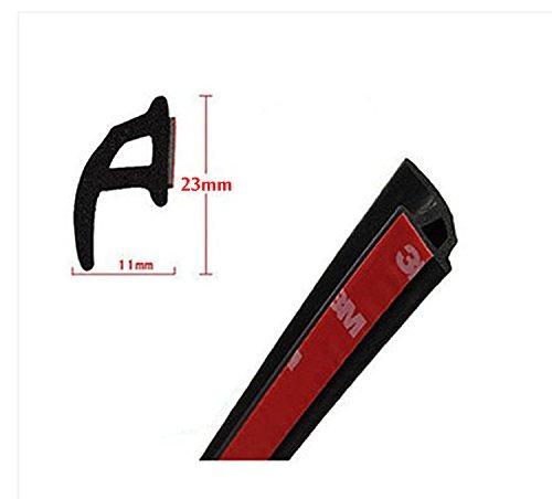 P shape Car Truck Door Rubber Seal Strip Weatherstrip Seals Hollow 4Meter 157