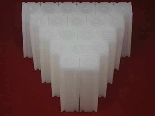 (20) Coinsafe Brand Square White Plastic (Dime) Size Coin Storage Tube Holders