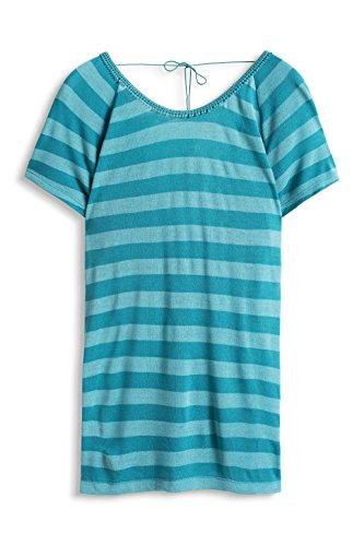 edc by Esprit Mit Rückenausschnitt, Camiseta para Mujer Verde (TEAL GREEN 370)