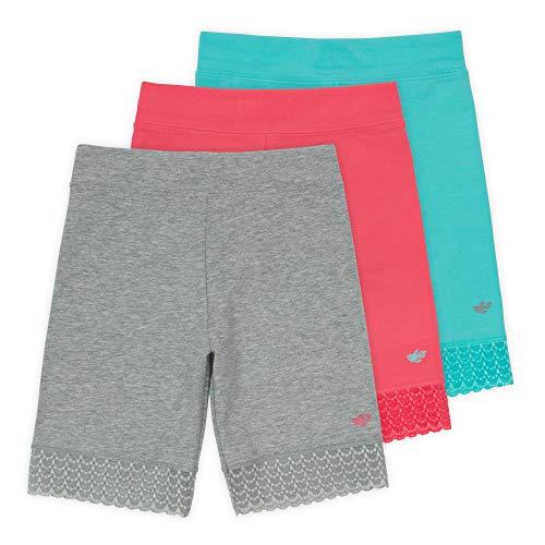 - Lucky & Me Jada Little Girls Bike Shorts, Tagless, Soft Cotton, Lace Trim, Underwear, Reef 3 Pack, 7/8